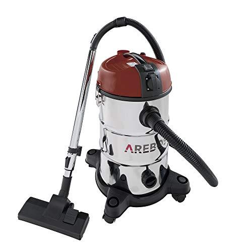Arebos - Aspiradora industrial para superficies secas y húmedas (2300 W, 30 L), color rojo