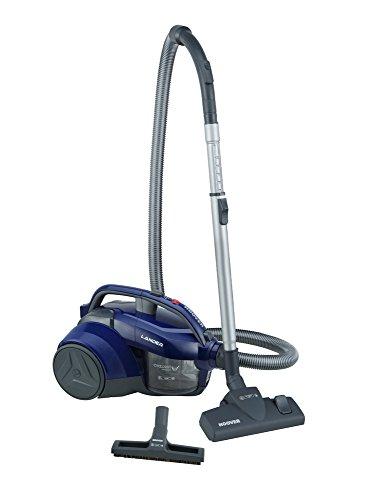 Hoover Lander LA20 Bolsa, Aspirador ciclónico, Cepillo parquet, Suelos Duros y alfombras, Accesorios Integrados, 700 W, 1.2 litros, 78 Decibelios, Azul