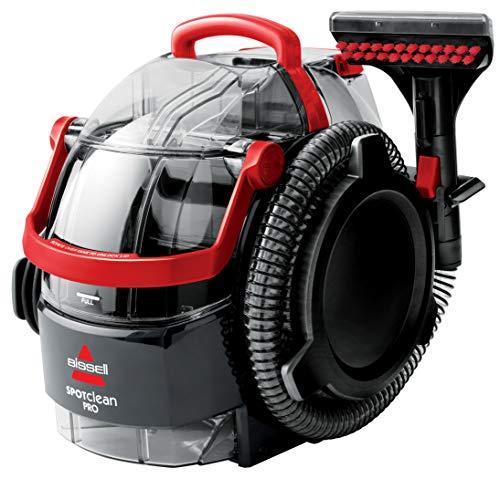 Bissell 1558N Limpiador a Mano para Manchas y alfombras, 750 W, 6.4 litros, 84 Decibelios, Plastic, Rojo/Negro
